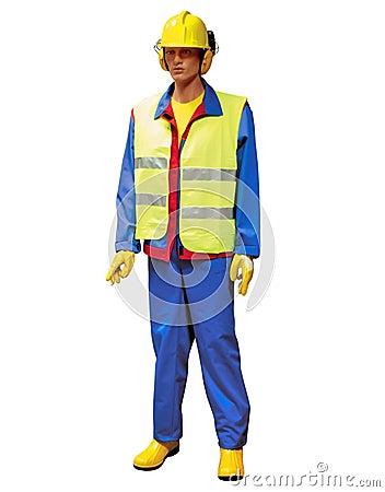 Construction worker - puppet
