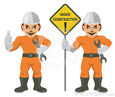 Construction worker superman