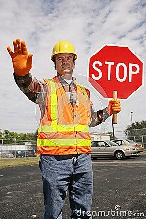 Construction Worker Traffic