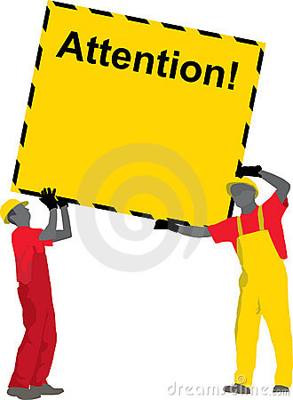 Construction Workers holding Poster