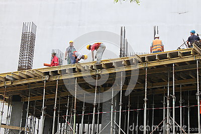 Construction workers Editorial Image