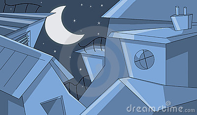 Constructions dans la nuit étoilée