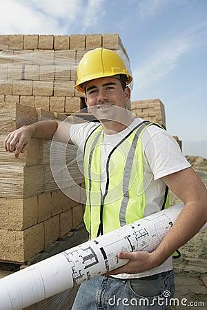 Constructor Holding A Blueprint