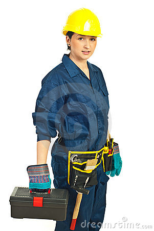 Constructor worker female