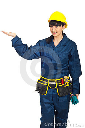 Constructor worker female presentation
