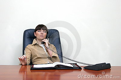 consultant concentrated on phone call
