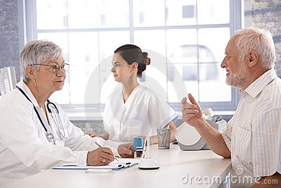 Consultation at doctor s room