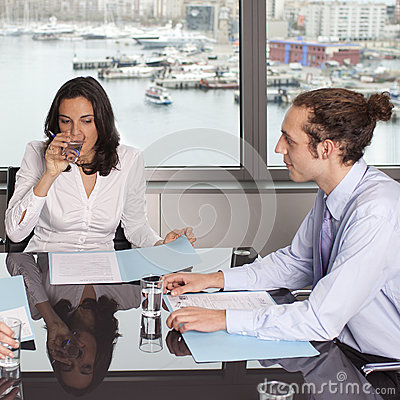 Consultation with financial adviser