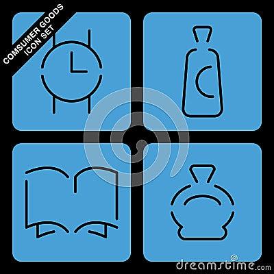 Consumer goods icon set