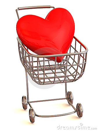 Consumer s basket with Heart