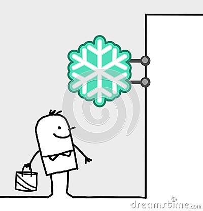 Consumer & shop sign - frozen food
