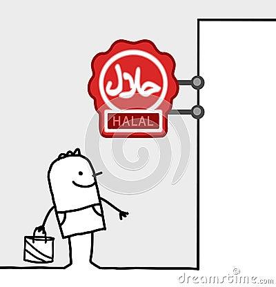 Consumer & shop sign - halal