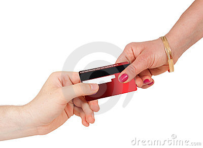 Consumerism buying and paying with credit card