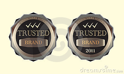 Consumers Voted Trusted Brand Emblem Logo Design