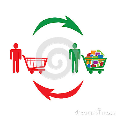 Consumption and shopping symbolized