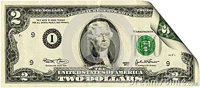 Conta de dólar de Estados Unidos dois