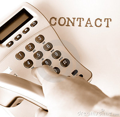 Contact Royalty-vrije Stock Afbeelding