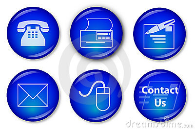 Contact Buttons (blue)