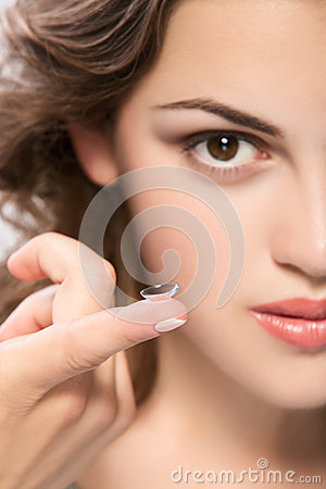 Free Contact Lens Royalty Free Stock Image - 41033176