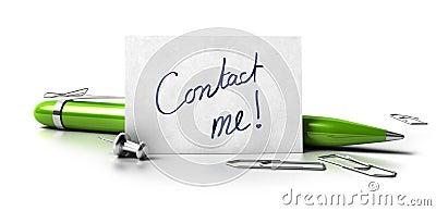 Contact me card
