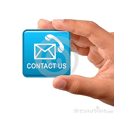 Free Contact Us Button Stock Photography - 119006762