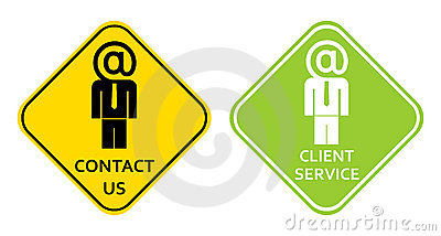 Contact us - client service sign