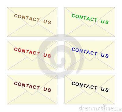 Contact us envelope - cdr format