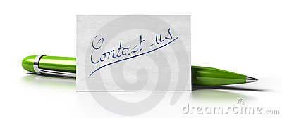 Contact us green pen
