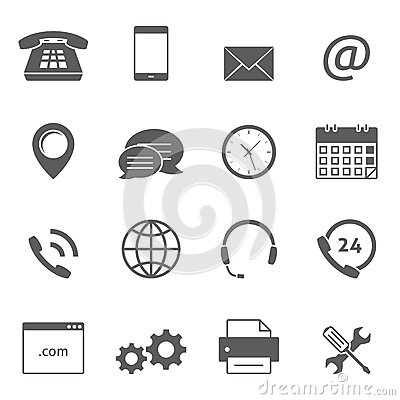 Free Contact Us Icons Stock Photos - 70552443