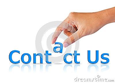 Contact Us Internet Concept