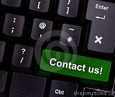 Contact us on keyboard