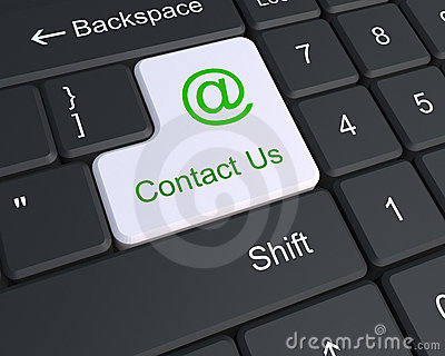 Contact us on the keyboard
