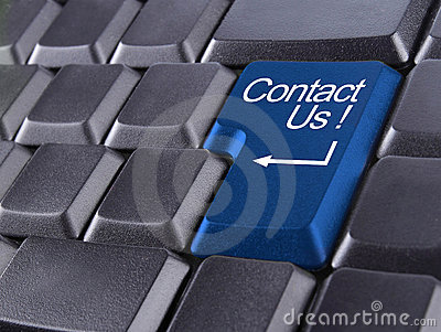 Contact us or support concept
