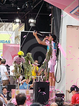 Free Contador Wins The 91st Giro D Italia Royalty Free Stock Photo - 5326175
