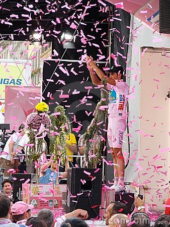 Free Contador Wins The 91st Giro D Italia Stock Photo - 5326180