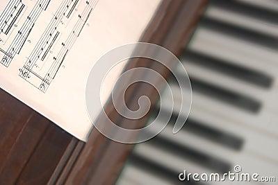 Contagem musical e piano