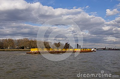 Container Barge on the Thames