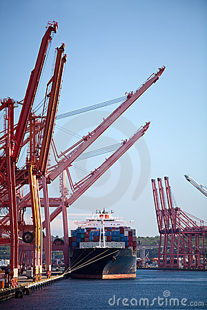 Free Container Cargo Ship In Port Stock Image - 16326061