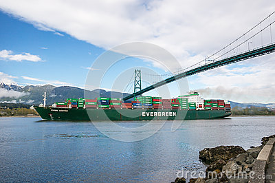 Container carrier Editorial Photo