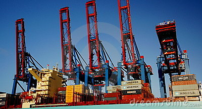 Container Cranes Editorial Photo