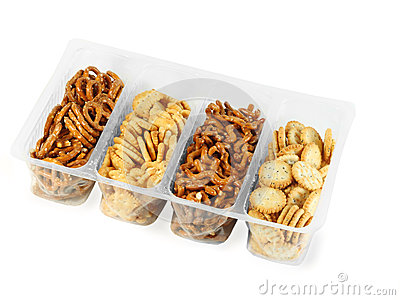 Container with different cookie Stock Photo