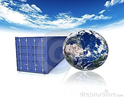 Container and earth