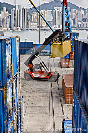 Free Container Handling, Hong Kong Stock Images - 25125084
