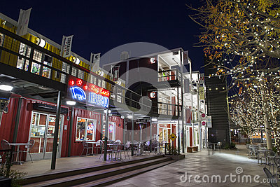 Container Park in Downtown Las Vegas, NV on December 10, 2013 Editorial Stock Image