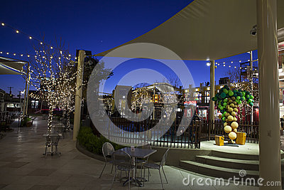 Container Park Kids Area in Las Vegas, NV on December 10, 2013 Editorial Stock Image