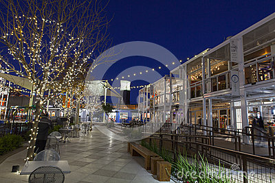 Container Park Shopping Area in Las Vegas, NV on December 10, 20 Editorial Stock Photo