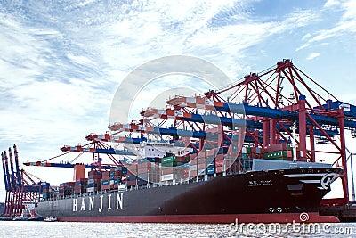 Container-port Hamburg Editorial Photo