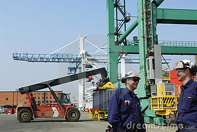 Container port and shipping