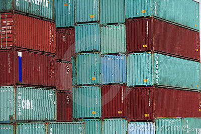 Container in red and green