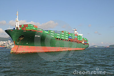 Container Ship Editorial Photo